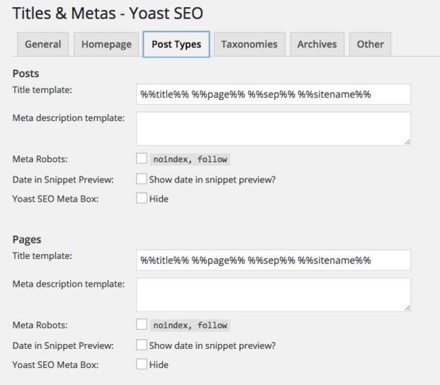Meta Titles and Descriptions