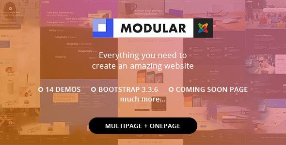 Modular Joomla template