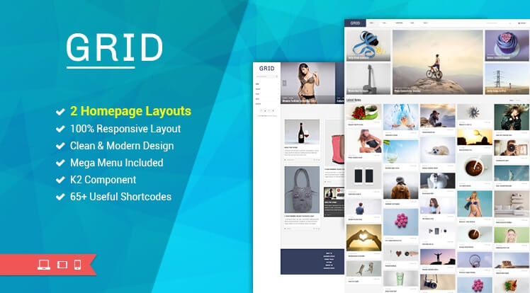 SJ Grid- best free Joomla template