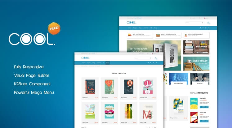SJ the Cool Free - best free ecommerce Joomla template