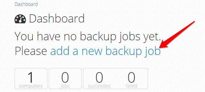 sqlbak.com - add a new backup job
