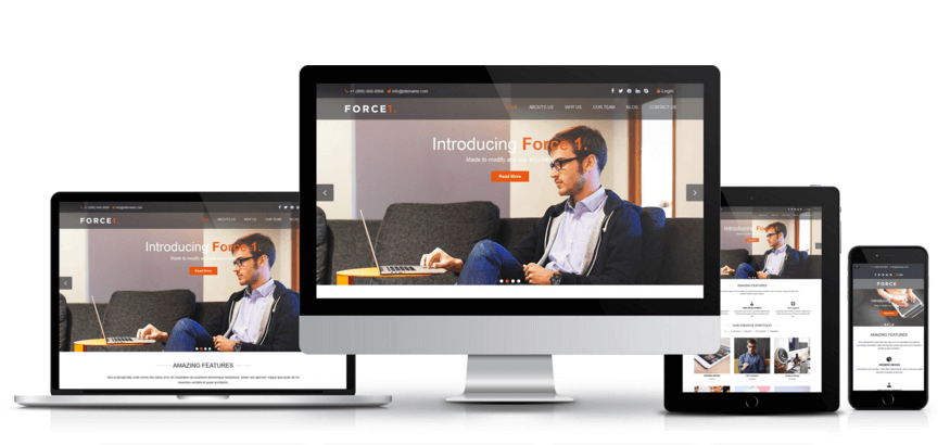 Force1 Responsive Joomla Template