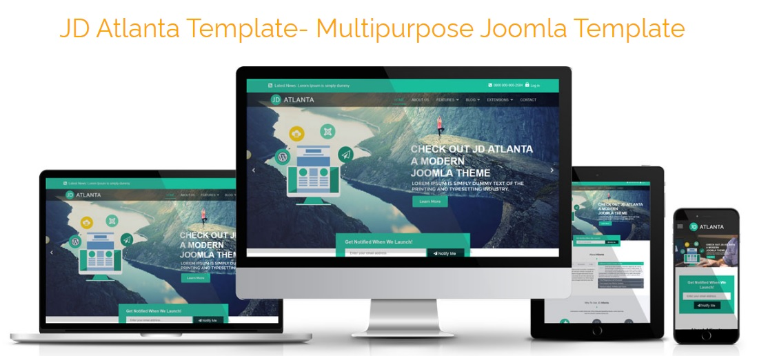 JD Atlanta Joomla Template