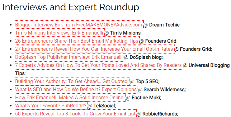 Interviews and Expert Roundups