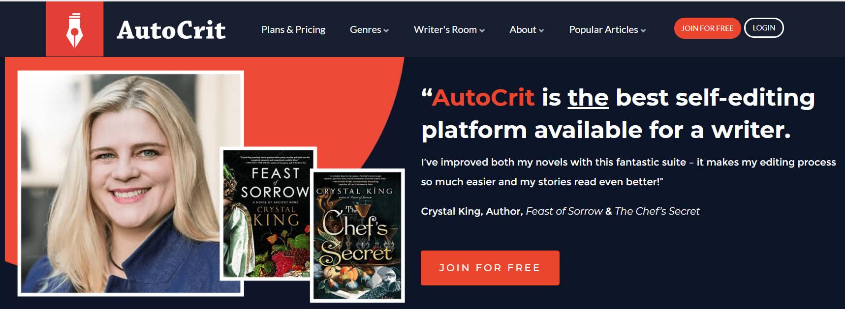 AutoCrit - Best Grammarly Alternatives