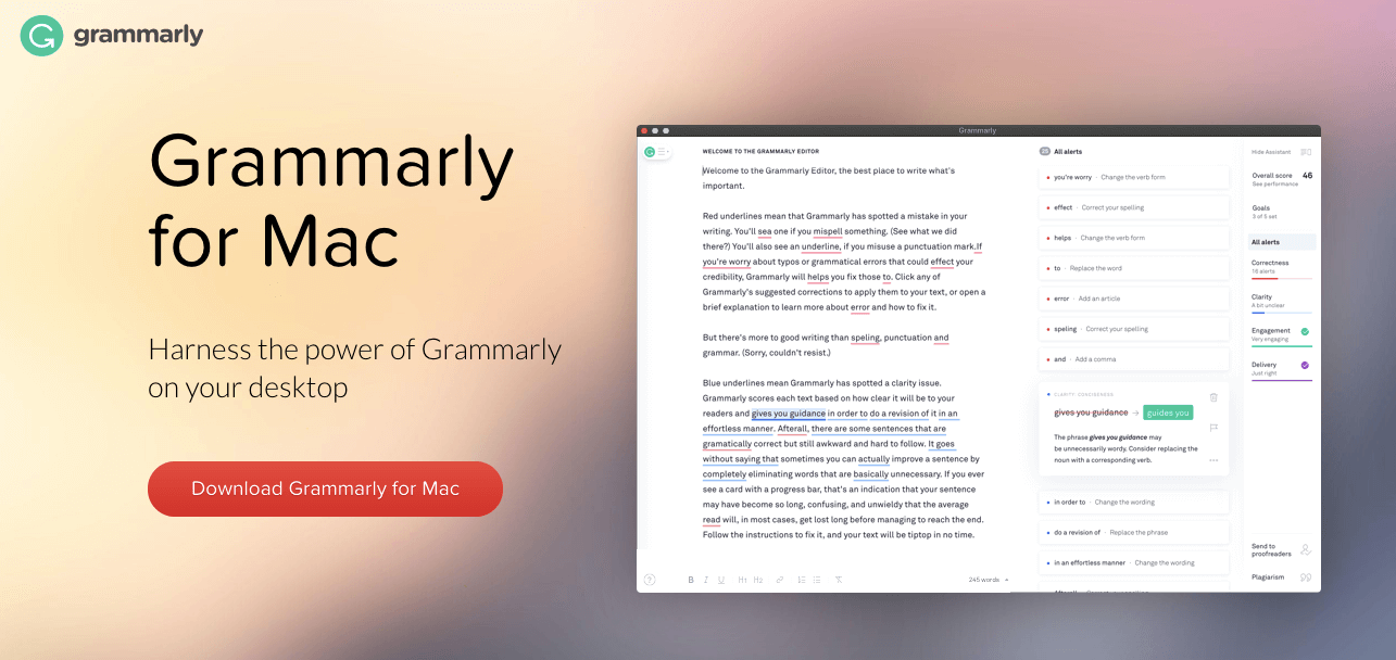 Grammarly for Mac